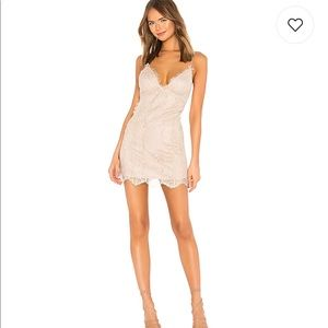 NBD - Champagne colored - lace mini dress